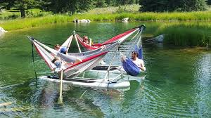 some genius invented a hammock that floats on water