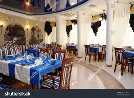 beautiful modern restaurant mirror ceiling stock photo 7538077