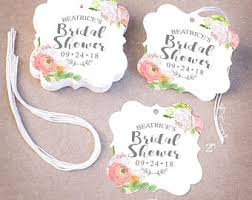 bridal shower favor tags bridal shower tag etsy