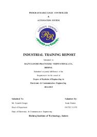 training report of plc