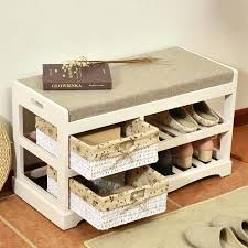 Wood Shoe Storage Bench Plans by Ottoman Wood Shoe Storage Bench Ottoman Shoe Storage Ottoman