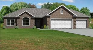 Hip Roof Colonial House Plans The Hip Roof And Brick Exterior Give These Ranch House Plans A