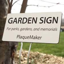 engraved garden signs garden plaques plaquemaker