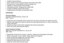 Financial Advisor Resume Sample by Financial Planner Resume Sample Restful Architecture