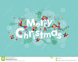 merry christmas contemporary greeting card stock vector image