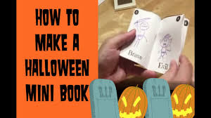 how to make a halloween mini book easy esl games youtube