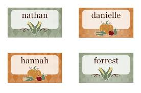 dinner placecards template