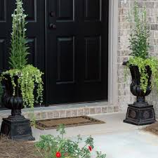 Planter Pots by 2 Pack Outdoor Planter Pots Large Tall Urn Flower Black Charcoal