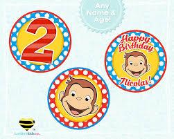 curious george birthday cupcake toppers u2013 luvibeekidsco