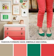 Emerald Coral Tuesday Huesday Palette On HGTV Design Happens - Coral color bedroom