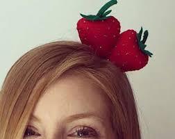 fruit headband strawberry headband etsy