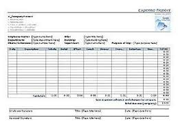Company Expense Report Template by Expense Templates Free Layout Format