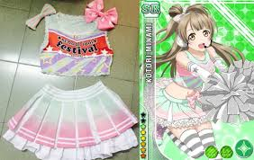 Girls Cheerleader Halloween Costume Aliexpress Buy Lovelive Minami Kotori Cheerleading Uniforms