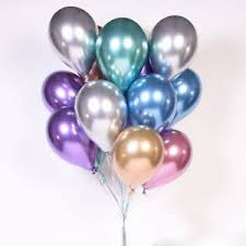 5Pcsset 10 Chrome Balloons Bouquet Party Birthday Wedding Decor