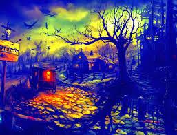 halloween scary horror nights scarecrow pumpkin haunted house hd