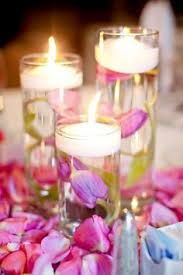Wedding Centerpieces Floating Candles And Flowers by 48 White Rose Floating Flower Candles Wedding Wedding