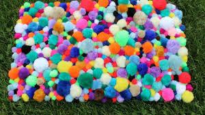 Diy Rug Diy Craft Tutorial For A Colorful Pom Pom Rug
