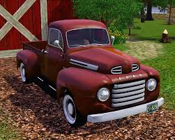 1950 ford up truck mod the sims 1950 ford f 1 up truck