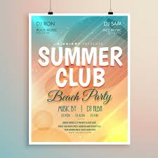 summer beach party banner flyer template design vector free download