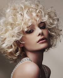root perms for short hair natural blonde curly hairstyle with dark roots