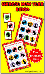 Free Printable Halloween Bingo Cards With Pictures Chinese New Year Bingo Game Gift Of Curiosity