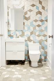 white blue tiles with chic pattern vintage bathroom design bold bathroom tile designs decorating and design blog hgtv