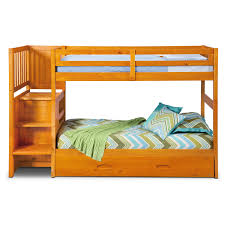 Bunk Bed With Storage Stairs Ranger Twin Over Twin Bunk Bed With Storage Stairs U0026 Trundle