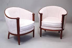 fauteuil ancien style anglais fauteuils art déco 1925 en acajou le guide des antiquaires