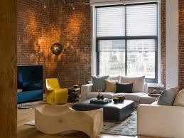 Modern Loft Warehouse Living Room Modern Living Room San - Modern living room furniture san francisco