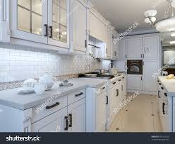 kitchen art deco trend 3d render stock illustration 299125625