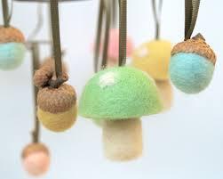 toadstool acorn ornaments easter felt mushroom decoration