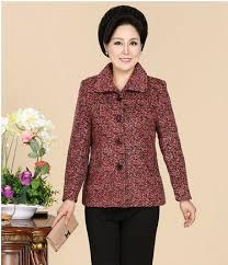 elderly woman clothes middle aged women s autumn winter woolen coat 40 50 60 year