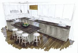 west coast kitchen michelle morelan design and rendering for