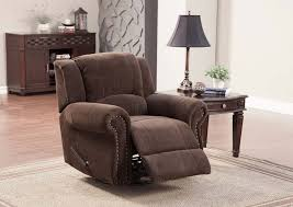 homelegance quinn swivel rocker recliner chair chocolate 9708nf