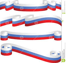 Russian Flag Colors Set Of Russian Ribbons In Flag Colors Stock Vector Image 27834671