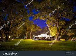 outdoor reception tent trees stock photo 516219124
