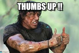 Thumbs Up Meme - thumbs up john rambo thumbs up meme on memegen