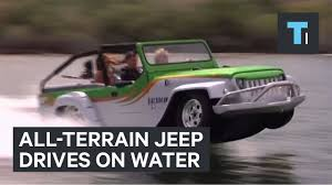 watercar panther all terrain jeep drives on water youtube