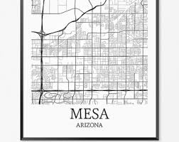 mesa az map 11x14 diving print mesa diving starlight motel