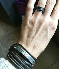 double wrap bracelet images Nevertheless she persisted black leather silver bar wrap bracelet JPG