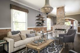 natural wood paneling and exposed brick fireplace gallery