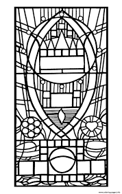 stained glass de l apparition bleue edegem coloring pages