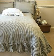 White Ruffle Duvet Gorgeous Self Ruffled Duvet Covers Handmade In Natural Linen