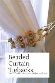 good house warming gifts beaded curtain tiebacks diy bead curtains curtain ties and