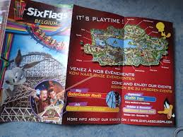 Six Flags Coupon Book A Glimpse Of A Park Maps Collection And More European Coaster Kings