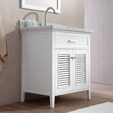 ace kensington 31 inch single sink bathroom vanity set in white finish