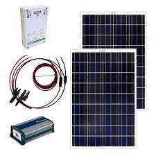 home depot solar grape solar 200 watt grid solar panel kit gs 200 kit the