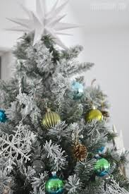 Popular Artificial Silver Tip Christmas Tree by Our Teal Green Silver And White Vintage Inspired Flocked