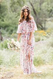 floral maxi bridesmaid dress show me your mumu x gws bridesmaid dresses and romper collection
