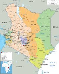 Lake Victoria Africa Map by Large Political And Administrative Map Of Kenya With Roads Cities